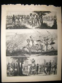Military 1857 Antique Print. Battle Scence etc 14